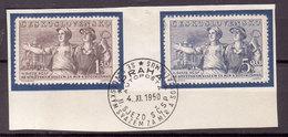Tschechoslowakei / CSSR , 1950 , Mi.Nr. 641 , 642 O / Used  Auf Papier Ersttagsstempel - Gebraucht