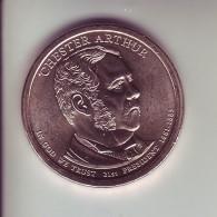 Stati Uniti 2012 - 1 Dollaro Arthur - Zecca D - 2007-…: Presidents