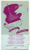 Menu - Calendrier Gastronomique - Le Silver Grill - Bruxelles - +- 1950 - Menú