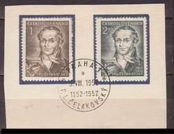 Tschechoslowakei / CSSR , 1952 , Mi.Nr. 753 , 754 O / Used  Auf Papier Ersttagsstempel - Gebraucht