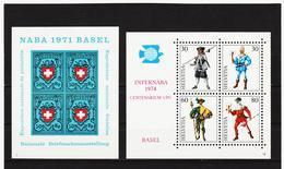 SRO396 SCHWEIZ 1971 + 1974 Michl BLOCK 21/22  Postfrisch ** SIEHE ABBILDUNG - Schweiz