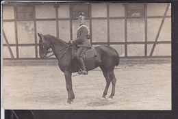 Photo Soldat Auf Pferd ( Ulan ? ) Photogr.Leipzig -Anger - Weltkrieg 1914-18