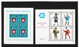 SRO397 SCHWEIZ 1971 + 1974 Michl BLOCK 21/22  Postfrisch ** SIEHE ABBILDUNG - Schweiz