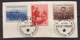 Tschechoslowakei / CSSR , 1953 , Mi.Nr. 780 - 782 O / Used  Auf Papier Ersttagsstempel - Gebraucht