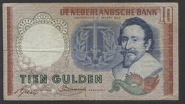 Netherlands 10 Gulden, 23-3-1953  -  BLS 079723  - See The 2 Scans For Condition.(Originalscan ) - [2] 1815-… : Kingdom Of The Netherlands