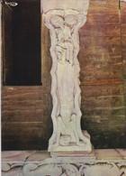 19---BEAULIEU-SUR-DORDOGNE--l'abbatiale Saint-pierre ( XIIè S. )--pilier Central Du Porche--voir 2 Scans - Other Municipalities