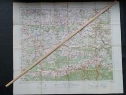 Topografische En Militaire Kaart STAFKAART 1916 UK War Office WW1 WWI Charleroi Namur Dinant Givet Chatelet - Carte Topografiche