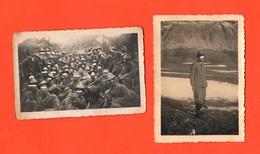 Guardia Alla Frontiera 2 Foto Scritte Al Retro - Guerre, Militaire
