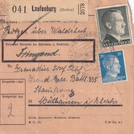 ALLEMAGNE COLIS POSTAL/PAKETKARTE 1944 DE LAUFENBURG - Alemania