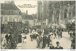 WW 51 SEZANNE. Fêtes De 1912 Sur La Place De La République - Sezanne