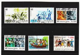 SRO442 UNO GENF 1987 MICHL 154/59 Gestempelt Siehe ABBILDUNG - Genf - Büro Der Vereinten Nationen