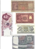 Italia Lire 1951 + 500 1961 + 500 1970 + 10000 1982 2 Pz Consecutivi + 50000 1990 LOTTO.2500 - Verzamelingen