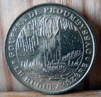 MEDAILLE TOURISTIQUE MILLENIUM MONNAIE DE PARIS GOUFFRE DE PROUMEYSSAC LE BUGUE VEZERE 2001 - 2001