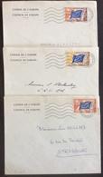 D439 Conseil De L'Europe S 17 S 18 S 20 10/10/58 11/10/58 13/10/58 - Officials