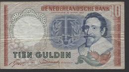 Netherlands 10 Gulden, 23-3-1953  -  DHY 015447  - See The 2 Scans For Condition.(Originalscan ) - [2] 1815-… : Koninkrijk Der Verenigde Nederlanden