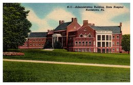 Etats Unis - Administration Building State Hospital Norristown - Etats-Unis
