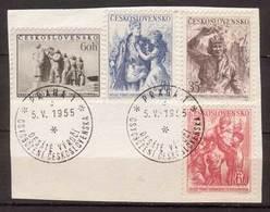 Tschechoslowakei / CSSR , 1955 , Mi.Nr. 902 - 905 O / Used  Auf Papier Ersttagsstempel - Gebraucht
