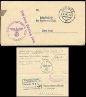 P0897 - DR Dienstbrief : Gebraucht Bautzen - Leipa Böhmen 1941, Bedarfserhaltung. - Briefe U. Dokumente
