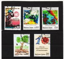 SRO446 UNO GENF 1989 MICHL 175/79 Gestempelt Siehe ABBILDUNG - Genf - Büro Der Vereinten Nationen