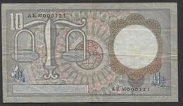 Netherlands 10 Gulden, 23-3-1953  -  AEM 090121  - See The 2 Scans For Condition.(Originalscan ) - [2] 1815-… : Koninkrijk Der Verenigde Nederlanden
