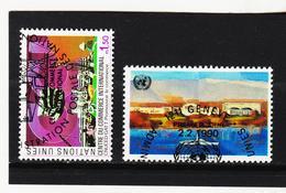 SRO447 UNO GENF 1990 MICHL 182/83 Gestempelt Siehe ABBILDUNG - Genf - Büro Der Vereinten Nationen