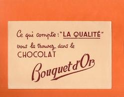 BUVARD.CHOCOLAT BOUQUET D' OR  Achat Immédiat - Cocoa & Chocolat