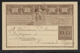 ANNIV.LIBERAZIONE DI ROMA - DA TORRE PELLICE A LUCERA - 11.10.1895. - 1878-00 Umberto I
