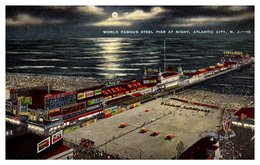 Etats Unis - Atlantic City - World Famous Steel Pier At Night - Atlantic City