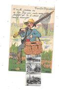 54 - PONT A MOUSSON : Carte à Système, Pêcheur, - Pont A Mousson
