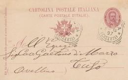 Aversa. 1897. Annullo Tondo Riquadrato AVERSA (CASERTA), Su Cartolina Postale Con Testo - 1878-00 Umberto I