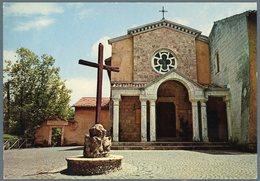 °°° Cartolina 51 Rieti Santuario Francescano Di Fontecolombo Facciata Della Chiesa Nuova °°° - Rieti