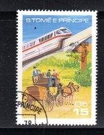 APR917 - ST THOMAS E PRINCE 1978 , Yvert N. 504 Usato.  (2380A) .  Upu  Treno - Trains