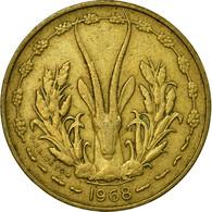 Monnaie, West African States, 5 Francs, 1968, Paris, TTB - Côte-d'Ivoire