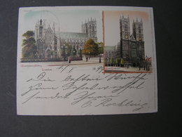 London Karte Nach Lichterhausen 1899 - Westminster Abbey