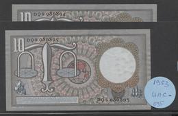 Netherlands 10 Gulden, 23-3-1953  -  DQS 086804 + DQS 086895  UNC- / P - See The 2 Scans For Condition.(Originalscan ) - [2] 1815-… : Koninkrijk Der Verenigde Nederlanden