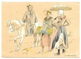 Barré Dayez Croquis Régionaux Paysannes Du Mont-Dore N° 1302 W - Illustrateurs & Photographes