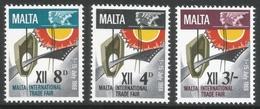 Malta. 1968 Malta Trade Fair. MNH Complete Set. SG 402-404 - Malta