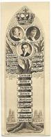Marque-Pages Ancien Royaliste - Arbre Généalogique Du Comte De Paris Vers 1930 - Marque-Pages