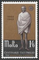 Malta. 1969 Birth Centenary Of Mahatma Ghandi. 1/6 MNH. SG 415 - Malta
