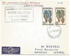 1 ERE LIAISON AERIENNE PARIS-MOSCOU DU 3/8/1958 - Vliegtuigen