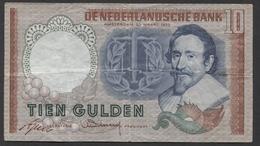 Netherlands 10 Gulden, 23-3-1953   Replacement  CZP 105449 - See The 2 Scans For Condition.(Originalscan ) - [2] 1815-… : Koninkrijk Der Verenigde Nederlanden
