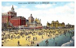 Etats Unis - Atlantic City - Beach Scene - Atlantic City