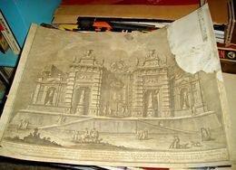 VASI GIUSEPPE: 1774 DISEGNO II MACCHINA RAPPRESENTANTE UNA PROSPETTIVA DI VILLA PER COMANDO - Litografia