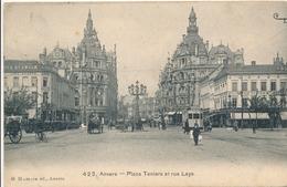 CPA - Belgique - Antwerpen - Anvers - Place Teniers Et Rue Leys - Antwerpen