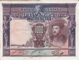 BILLETE DE ESPAÑA DE 1000 PTAS DEL AÑO 1925 DE CARLOS I  (BANKNOTE) - [ 1] …-1931 : Primeros Billetes (Banco De España)