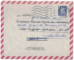 IN97  Danmark  Cover To Spain 1969 King Frederik IX 90 öre Solo - Covers & Documents