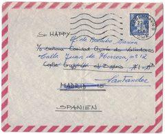 IN97  Danmark  Cover To Spain 1969 King Frederik IX 90 öre Solo - Danimarca