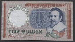 Netherlands 10 Gulden, 23-3-1953   Replacement  CJT 103090 - See The 2 Scans For Condition.(Originalscan ) - [2] 1815-… : Koninkrijk Der Verenigde Nederlanden