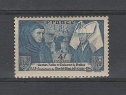 FRANCE / 1943 / Y&T N° 583 ** : Rolin & Guigone De Salins - Gomme D'origine Intacte - Unused Stamps
