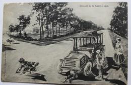CPA Peu Courante Illustrateur Circuit De La Sarthe 1906 Phototypie J. Bouveret Automobile Course Des 24 Heures Du Mans - Le Mans
